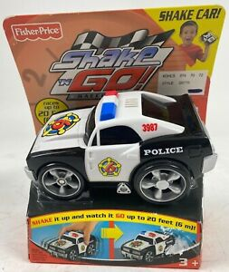 Fisher Price Shake 'N Go POLICE CAR w Sound Vintage 2005 #J3987