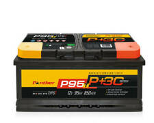 Autobatterie Starterbatterie Panther Black Edition +30%  12V 95Ah 850A P+95T