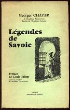 GEORGES CHAPIER, LÉGENDES DE SAVOIE - 1968