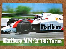 1986 F1 POSTER - ALAIN PROST - McLAREN MP4/2C