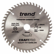 Trend CSB 16048 160mm TCT Circular Trim Saw Blade 160 X 20 48T Fits Festool TS55