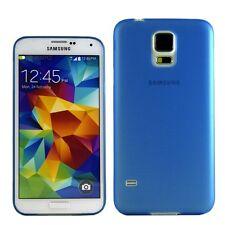 Backcover Blau Hülle Case Cover Schale Glossy Zubehör für Samsung Galaxy S5 Neu