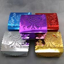 50 boîtes à gâteaux mariage baptême motif papillon floral pailleté BTG2