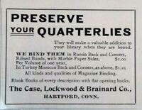 1899 Hartford Connecticut Case Lockwood & Brainard Vtg Print Ad