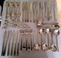 44 PIECES VINTAGE VINERS HARLEY SILVER PLATED CUTLERY