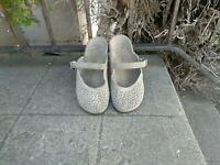 Vionic Lidia Gray Perforated Slip On Suede Mary Jane Mules Women's Size