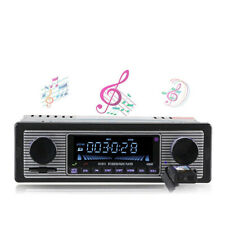 Classic Car Stereo Bluetooth MP3 Audio Retro Radio Player FM USB AUX & Remote K