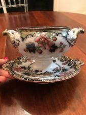 Jeddo Beech & Hancock Flow Mulberry Polychrome Compote Dish Serving Soup Tureen