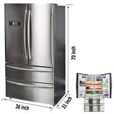 Smad 20.7 Cu Ft French Door Fridge Freezer 4 Door Refrigerator Auto Ice Making