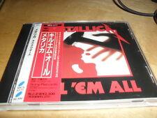 METALLICA -KILL 'EM ALL- HARD TO FIND JAPANESE PRESS WITH OBI NEAR MINT SLAYER