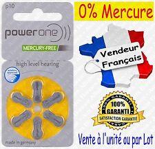 Piles Auditives 0% Mercure 1,45V Power One VARTA P10 PR70 A10 ( code JAUNE )