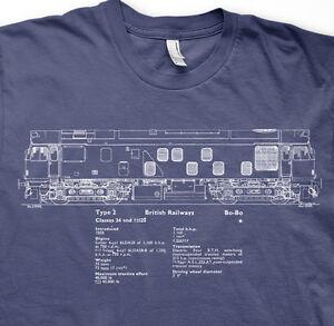 Class 25 diesel model railways trains BR t shirt