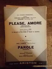 "SPARTITO DINCK ""PLEASE, AMORE"" + NICO E I GABBIANI ""PAROLE"""