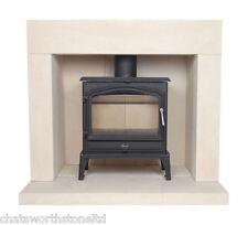DURHAM LIMESTONE FIRE SURROUND / STONE FIREPLACE / FIRE PLACE SURROUND