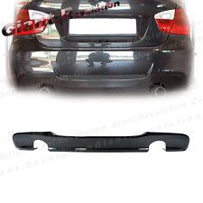 For 06-11 E90 E91 Sedan Wagon Sporty Style Carbon Fiber Rear Bumper Diffuser Lip