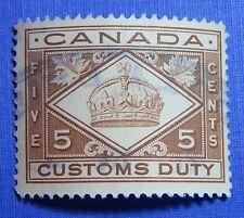 1912 5c CANADA CUSTOMS DUTY REVENUE VD # FCD3 B # 3 USED                 CS30174