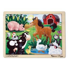 Melissa & and Doug Kids Tray Puzzle ~ On the Farm 12 Pc 3+Yrs 30x22cm BN Sealed
