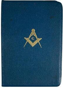 VTG 60s MASONIC EDITION HOLY BIBLE French Morocco Leather Bound KJV Holman 1968