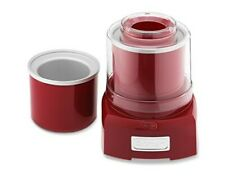 Cuisinart Frozen Yogurt, Ice Cream and Sorbet Maker Large 1.5 Qt. Red Great cond