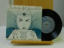 Destroy All Monsters 45 w PS What Do I Get bw Nobody Knows on IDBI punk