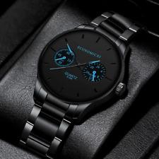 Reloj de Hombre Reloj de Cuarzo de Lujo para Hombre Acero Inoxidable