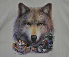 Vintage 1992  Harley Davidson Tee Shirt sz XL Made USA 3d Emblem Lone Wolf #25