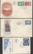 ISRAEL 1950s THREE EARLY FDC SG 29 30 16 64a