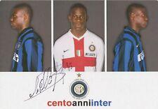 Mario Balotelli  Inter Mailand  Autogrammkarte original signiert 397889
