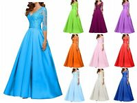 Hot Long Chiffon Prom Dress Bridesmaid Formal Evening Ball Gown Party Size  6-22