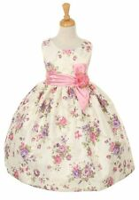 New Lavender Girls Jacquard Dress Wedding Pageant Formal Birthday Easter ME529