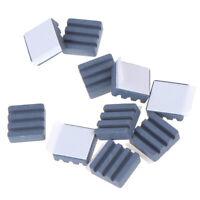 10pcs/set Black Ceramic Heat Sinks CPU Cooling Dissipador For Raspberry PiWD TEU