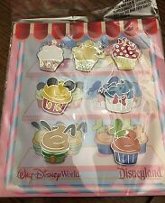 US Disney Parks Cupcake Pin Trading Booster Set New! Sold Out!!