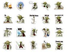 Yoda 20 Stickers Lot A ~ Star Wars ~ Waterproof Vinyl Laptop Guitar Stickers