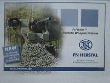 6/2010 PUB FN HERSTAL BELGIQUE DEFNDER REMOTE WEAPON STATION ORIGINAL AD