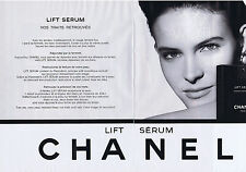 PUBLICITE ADVERTISING 094 1989 CHANEL lift sérum (2 pages)