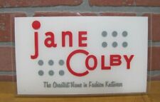 Jane Colby The Greatest Name in Fashion Knitwear Store Display Plexiglas Ad Sign