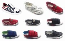 Youth Girls Boys Special Canvas Sneaker Trainer Plimsoll High Ankle Shoes Sz 9-4