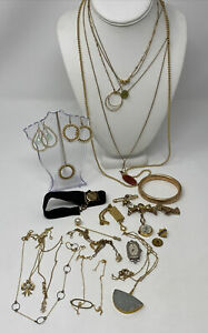 LOT of GOLD FILLED Antique Vintage JEWELRY  WEARABLE~NOT SCRAP SCRAP ?  146g