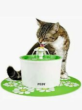 Pedy Little Flower Pet Watering Fountain With Matching Mat Automatic Ps001 New
