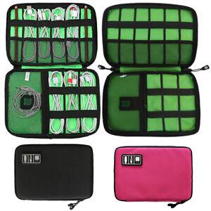 1XCable Organiser Earphone Bag  Travel Gadget Pouch Electronics Accessories Case