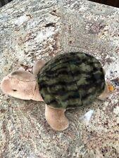 "14"" STEIFF TURTLE PLUSH GERMANY STUFFED ANIMAL NINJA SHELL GREEN BLACK BROWN TOY"