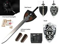 Dark Link Zelda Master Sword Shield Cosplay gift Set Legend of Zelda BOTW LARP