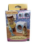 Calico Critters Sylvanian Dollhouse Laundry Washing Machine & Vacuum Set W4
