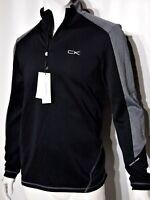 Calvin Klein men's quarter zip stretch interlock sweatshirt size xl