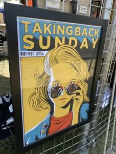 Taking Back Sunday Chicago Riot Fest Tour 2021 Poster Sold Out