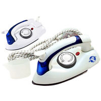 PORTABLE EASY FOLDING TRAVEL NON STICK SOLE PLAT COMPACT STEAM DRY IRON 700 WATT
