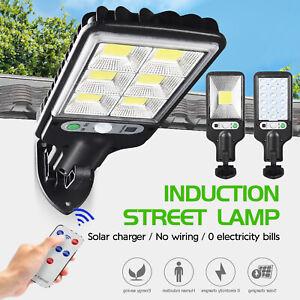 4PACK Solar Street Lights PIR Motion Sensor LED Outdoor Garden Wall Lamp+Remote