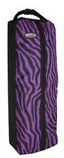 Showman Purple Zebra Print Nylon Halter & Bridle Bag With Zipper Front