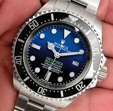 Rolex Sea Dweller DEEPSEA 116660 Mens Steel James Cameron Faded Blue Dial 44MM