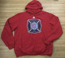 Mens 2011 Chicago Fire Adidas Hoodie Sweatshirt size 2XL XXL Soccer Futbol